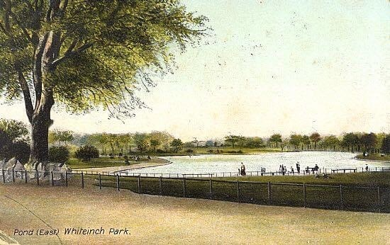 (723)-Whiteinch-Park-pond-looking-east-early-illustration