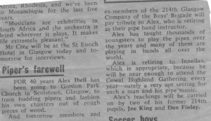 (116) Alex Ibell Retiral Newspaper Cutting